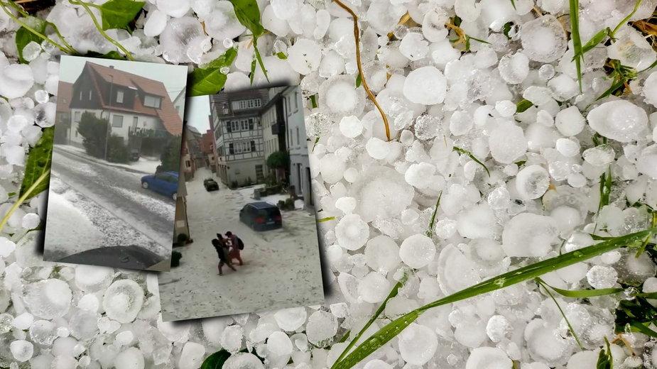 Niemcy: Burza i grad wielkości piłek tenisowych. Zalane centrum szczepień