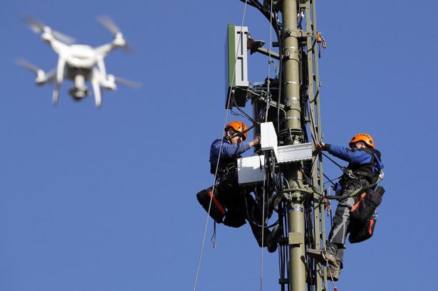 Instalacja anteny 5G w Hindelbank w Szwajcarii. 18.12.2019