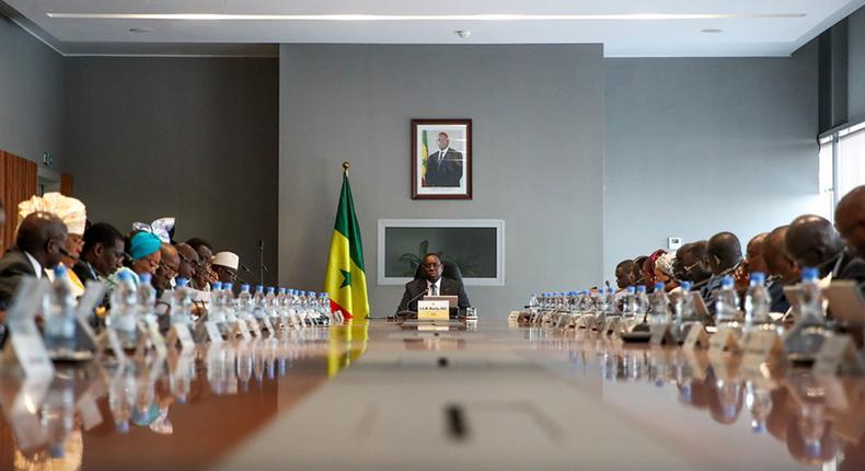 Macky Sall en Conseil des Ministres