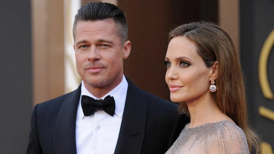 Brad Pitt i Angelina Jolie w 2014 r.
