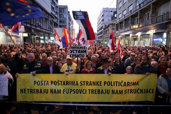 Protest '1 od 5 miliona' - Okupljeni poručili: Nećemo odustati od naših zahteva