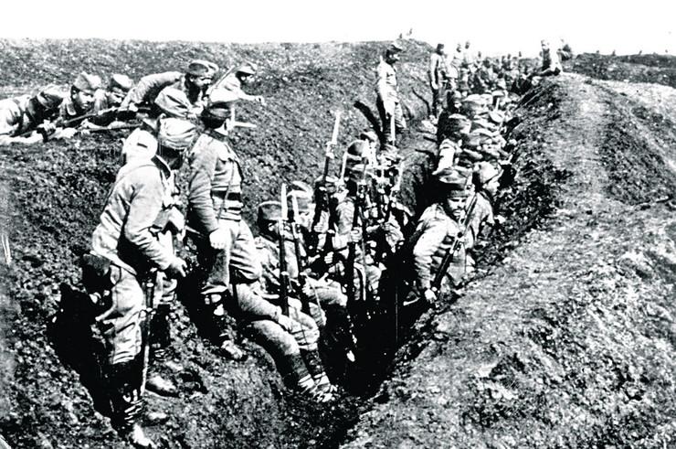 Srpski vojnici na Solunskom frontu