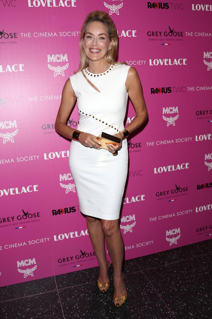 "Sharon Stone na premierze filmu ""Lovelace"""