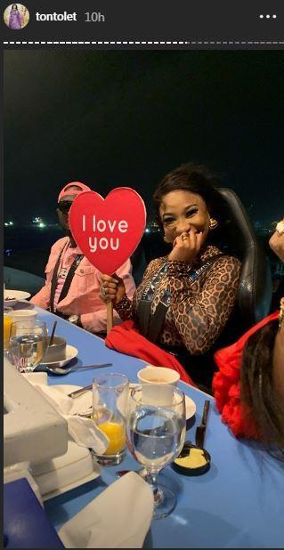 It is not clear if this is the new guy in Tonto Dikeh's life but they look good together [Instagram/TontoDikeh]