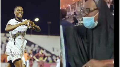Odion Ighalo scores in front of his mum who was watching him play live for the first time in his career