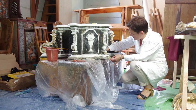 Ciekawe odkrycia podczas prac konserwatorskich w kościele z Rogowa