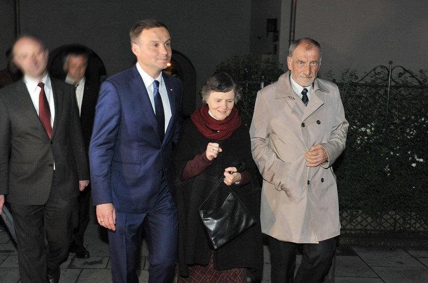 Prezydent z rodzicami
