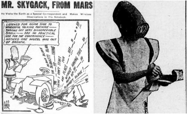 Pan Skygack z Marsa - oryginał i jeden z udokumentowanych przebierańców z 1912 roku