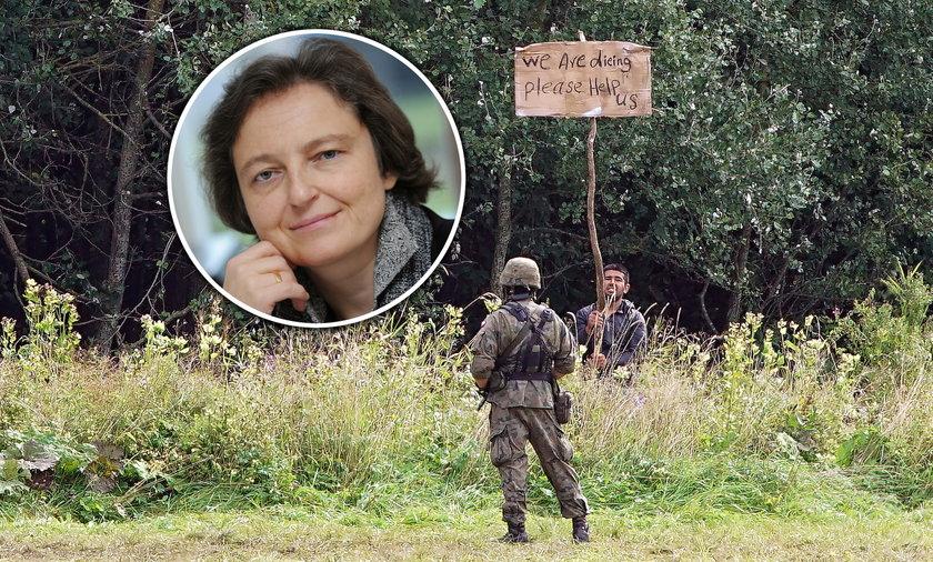 Nie wpuszczamy ich do Polski, choć strona białoruska usiłuje ich wypchnąć z Białorusi. Pamiętajmy jednocześnie, że rozmawiamy nie o paczkach tylko o żywych ludziach – mówi dr Małgorzata Bonikowska