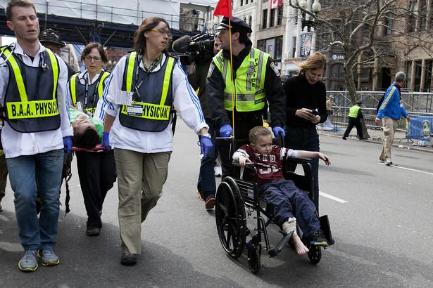 Ranni w wyniku wybuchów podczas maratonu w Bostonie