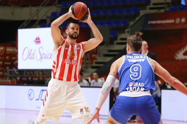 Detalj sa meča KK Crvena zvezda - Zadar