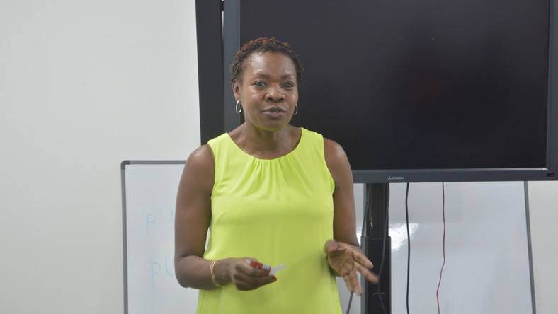 The Communications Manager of Google, Ms Dorothy Ooko