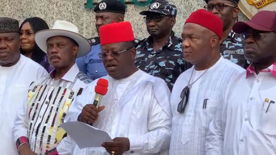 South-east governors oppose secession, say they're committed to one Nigeria