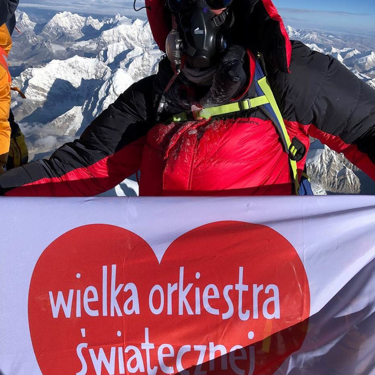 Kamil Suchoński na Mount Everest