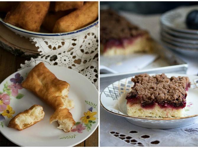 Mekike i kolač sa šljivama