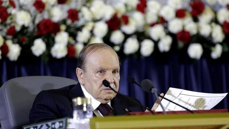 President Abdelaziz Bouteflika delivers a speech during a swearing-in ceremony in Algiers April 28, 2014 REUTERS/Louafi Larbi