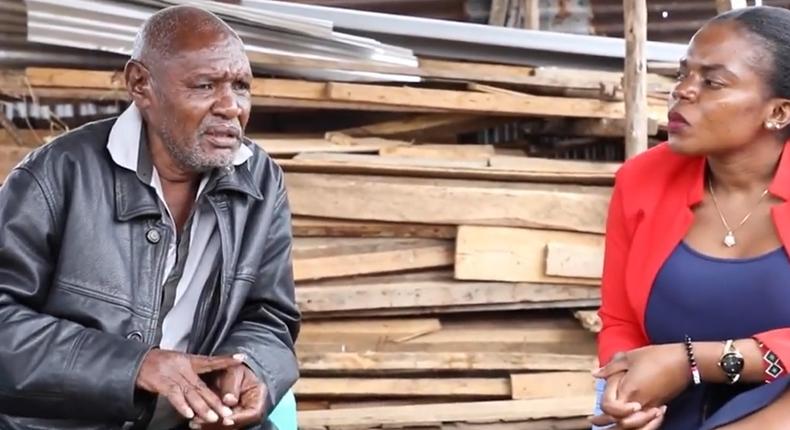Former bank manager Ben Mwangi during an interview