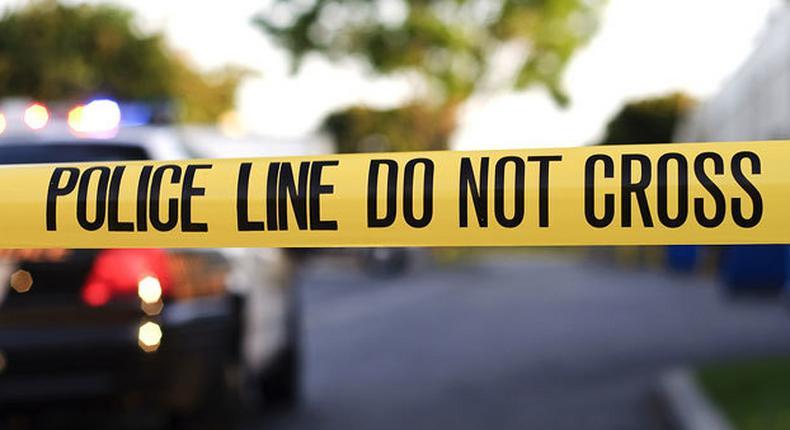 File image of a crime scene cordoned off