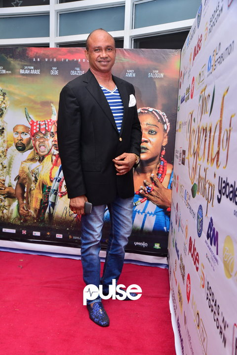 Paul Obazele, one of the lead characters in 'The Legend Of Inikpi', at the film premiere [PULSE]