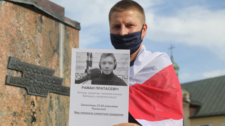 Raman Pratasiewicz, protest w Białymstoku