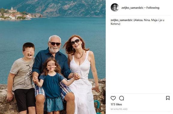 Željko i Maja sa unucima