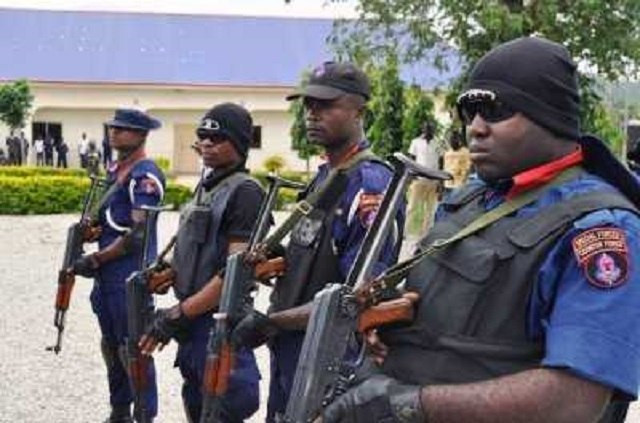 Officials of the NSCDC