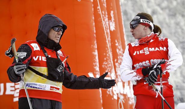 Val Di Fiemme Wlochy / Italy FIS Nordic World Championships Mistrzostwa Swiata w narciarstwie klasycznym . Justyna Kowalczyk i Aleksander Wierietielny