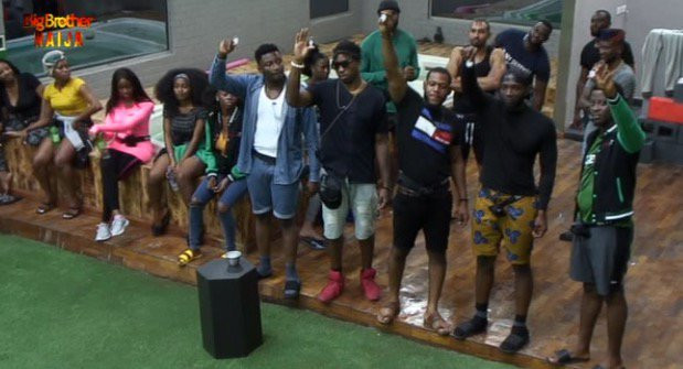 15 housemates have won at least one Bet9ja coin in the ongoing BBNaija Pepper Dem. [Twitter/BigBroNaija]