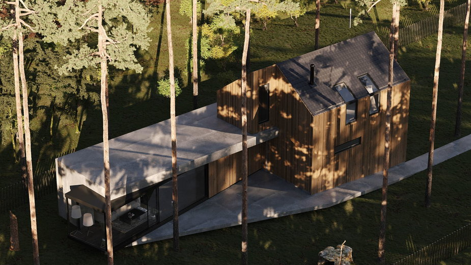 Dom nad Świdrem. Architekci przeprojektowali stary dom letniskowy