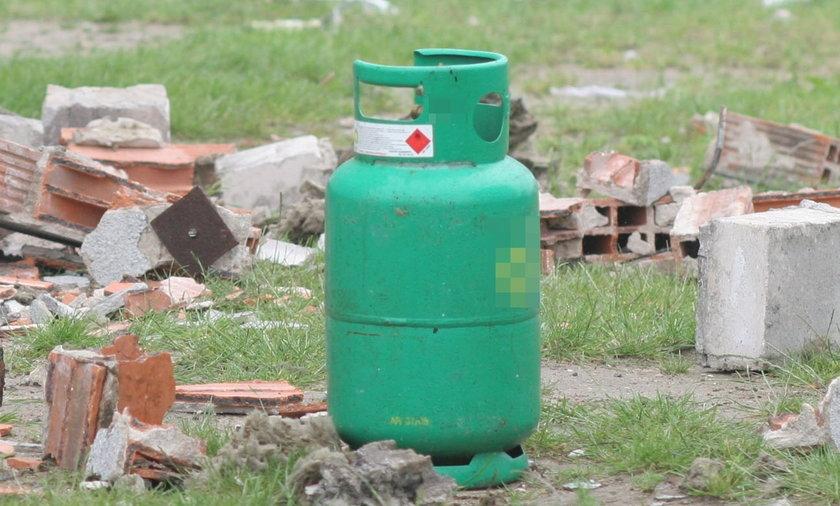 Wybuch butli z gazem