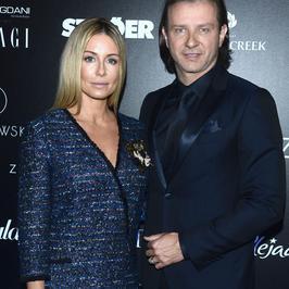 Radosław Majdan z żoną na pokazie Macieja Zienia