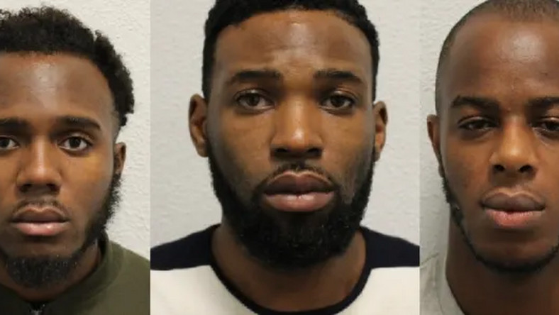 L-R: Michael Mgbedike, Kennedy Udo and Emmanuel Okubote [Metropolitan Police]