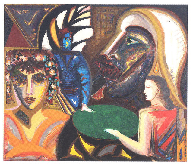 """Danka Petrovska, """"Satirion"""", ulje na platnu, 1984/90."""