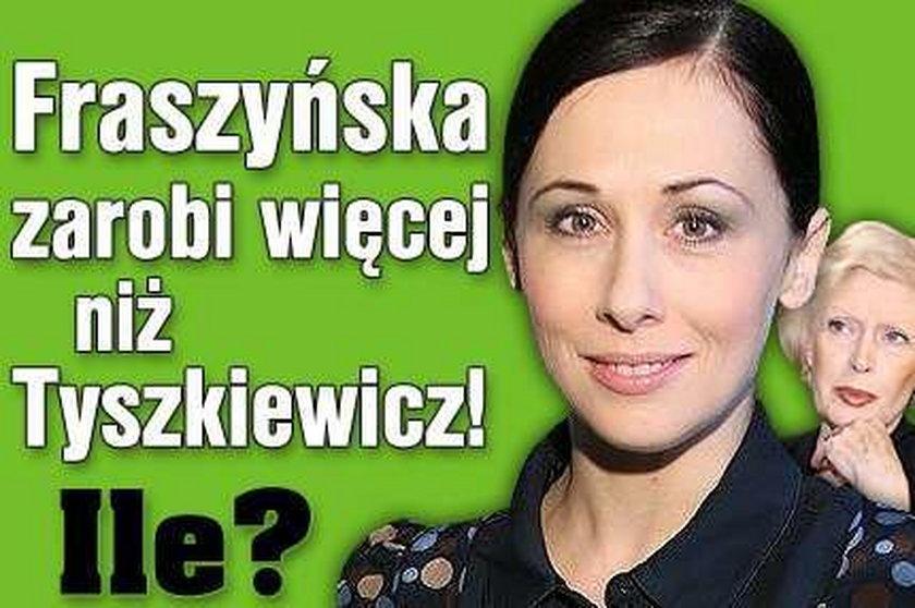 Fraszyńska zarobi więcej niż Tyszkiewicz! Ile?