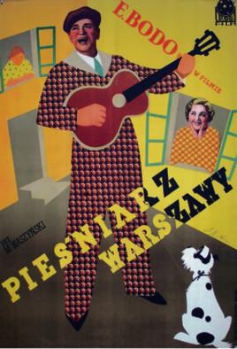 """Plakat filmu """"Pieśniarz Warszawy"""""""
