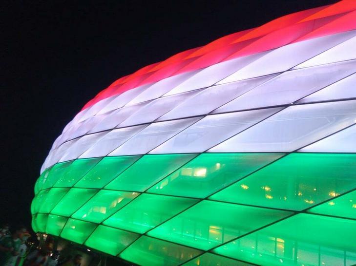 A németek nekünk is megadták a tiszteletet. / Fotó: Blikk