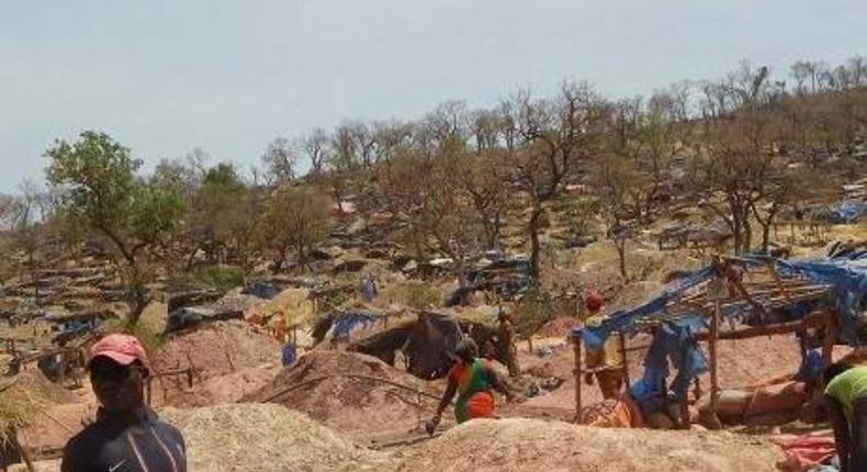 Site d'orpaillage à Kedougou