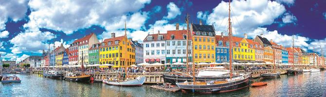 Prelepa panorama Kopenhagena, glavnog grada Danske