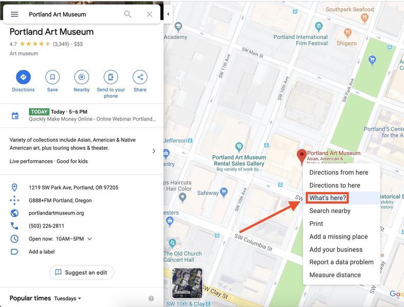 google-map-coordinates