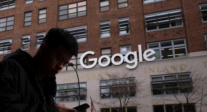 Google in Manhattan.