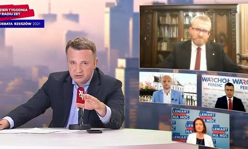 Grzegorz Braun wykluczony z debaty Radia ZET. Obrażał ministra Niedzielskiego