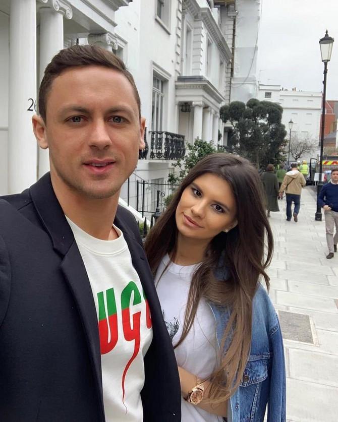 Nemanja Matić sa suprugom Aleksandrom Matić