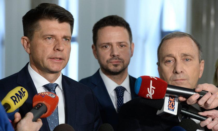Ryszard Petru, Grzegorz Schetyna i Rafał Trzaskowski