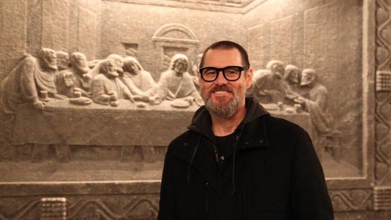 Jim Carrey odwiedził kopalnię soli w Wieliczce