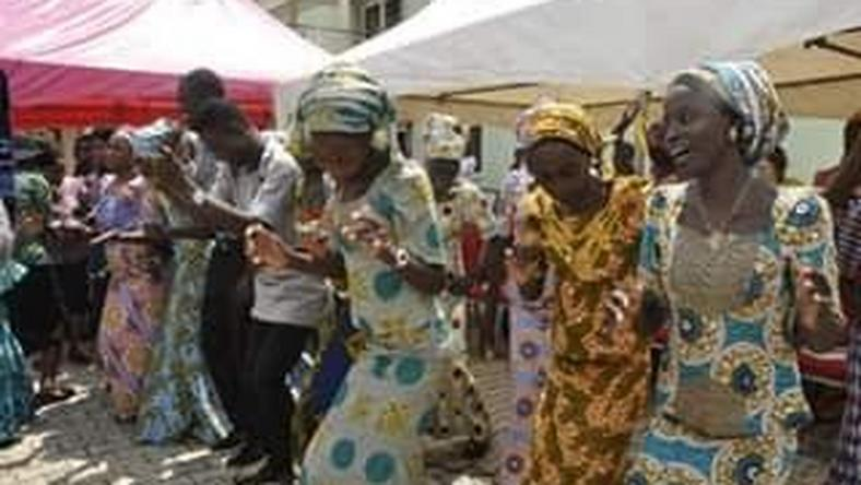 Released Chibok girls reunite with families in Abuja amidst tears