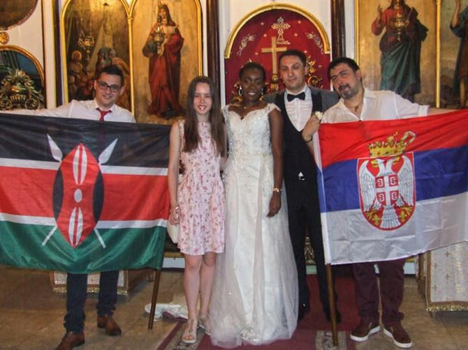 Venčanje u Zaječaru drugačije od svega što ste videli: Rukometaš se oženio devojkom iz Kenije, a porodica joj je već dala SRPSKI NADIMAK