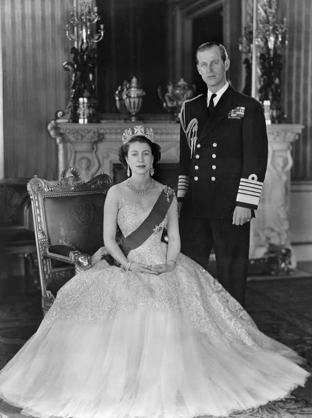 Princ Filip i kraljica Elizabeta 1954.
