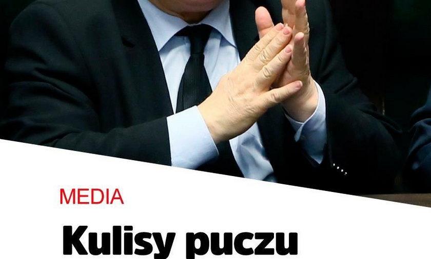 Kulisy nieudanego puczu w TVP Kaczyński znów się wściekł