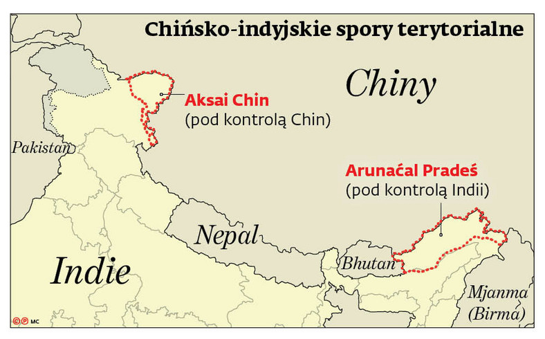 Chiny Indie spory terytorialne