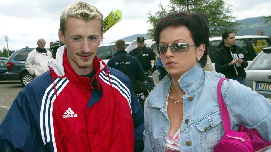 Adam Małysz i Izabela Małysz w 2003 roku